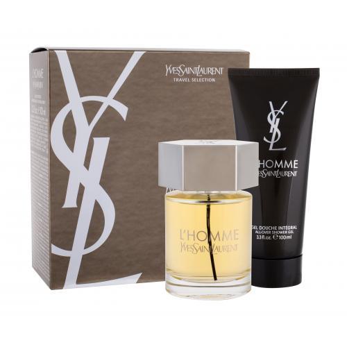 Yves Saint Laurent L´Homme dárková kazeta toaletní voda 100 ml + sprchový gel 100 ml pro muže