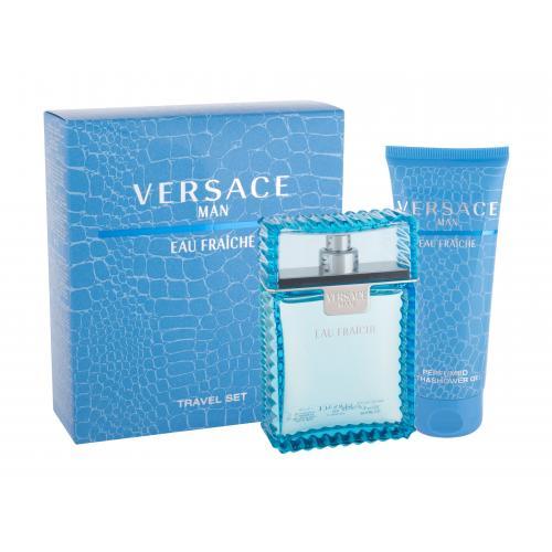Versace Man Eau Fraiche dárková kazeta toaletní voda 100 ml + sprchový gel 100 ml pro muže