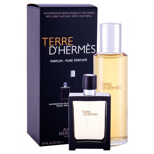Hermes Terre d´Hermès dárková kazeta Náplň parfém náplň 125 ml + parfém naplnitelný flakón 30 ml pro muže