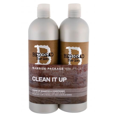Tigi Bed Head Men Clean Up dárková kazeta šampon 750 ml + kondicionér 750 ml pro muže