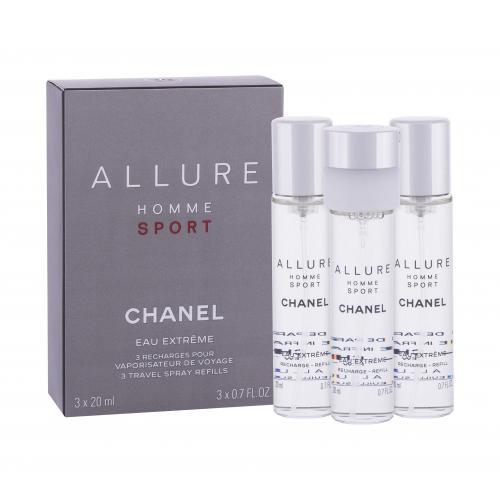 Chanel Allure Homme Sport Eau Extreme toaletní voda Náplň 3x20 ml pro muže