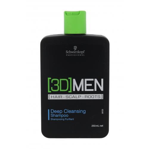 Schwarzkopf Professional 3DMEN Deep Cleansing 250 ml hloubkově čisticí šampon pro muže