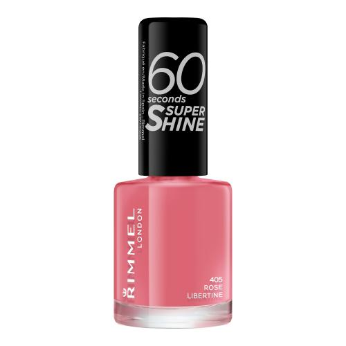 Rimmel London 60 Seconds Super Shine 8 ml lak na nehty pro ženy 405 Rose Libertine