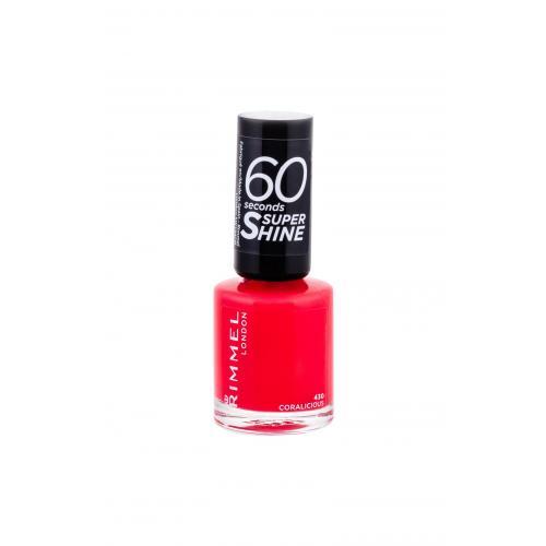 Rimmel London 60 Seconds Super Shine 8 ml rychleschnoucí lak na nehty pro ženy 430 Coralicious