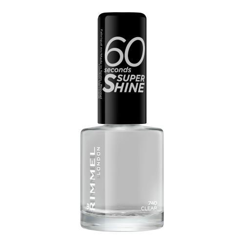 Rimmel London 60 Seconds Super Shine 8 ml rychleschnoucí lak na nehty pro ženy 740 Clear