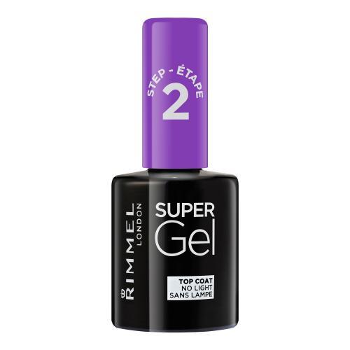 Rimmel London Super Gel Top Coat 12 ml vrchní gelový lak na nehty pro ženy