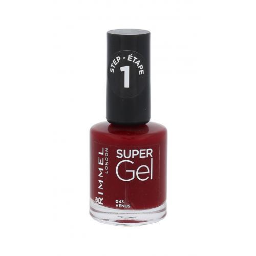Rimmel London Super Gel STEP1 12 ml gelový lak na nehty pro ženy 043 Venus