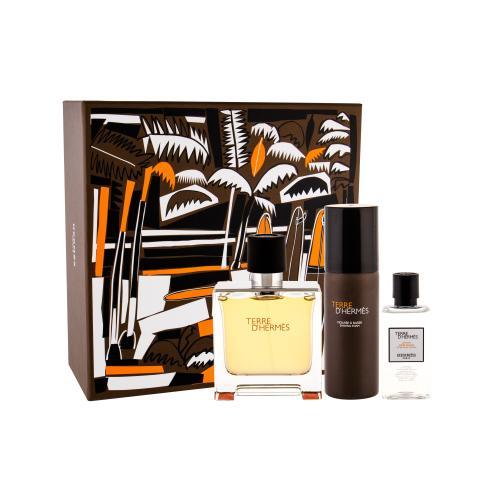 Hermes Terre d´Hermès dárková kazeta parfém 75 ml + voda po holení 40 ml + pěna na holení 50 ml pro muže