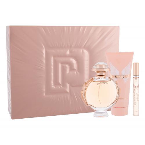 Paco Rabanne Olympéa dárková kazeta parfémovaná voda 80 ml + tělové mléko 100 ml + parfémovaná voda 10 ml pro ženy