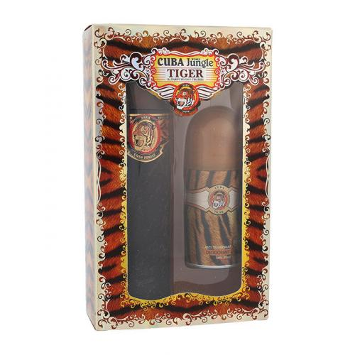 Cuba Tiger dárková kazeta parfémovaná voda 100 ml + deodorant 50 ml pro ženy