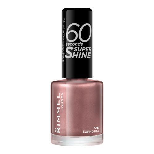 Rimmel London 60 Seconds Super Shine 8 ml rychleschnoucí lak na nehty pro ženy 510 Euphoria