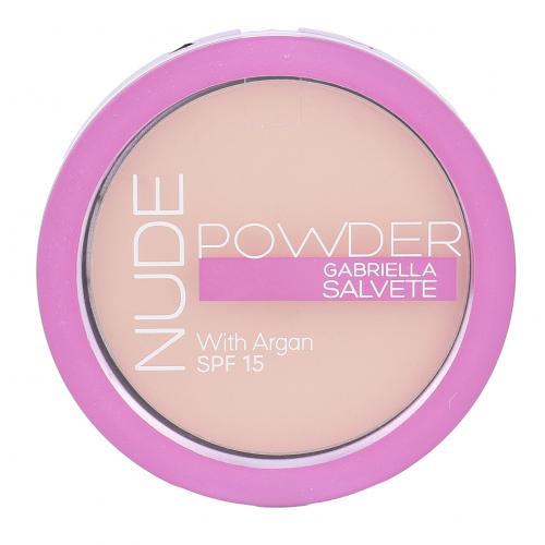 Gabriella Salvete Nude Powder SPF15 8 g kompaktní pudr pro ženy 02 Light Nude