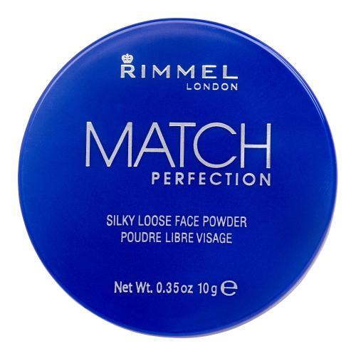 Rimmel London Match Perfection 10 g jemný pleťový pudr pro ženy 001 Transparent