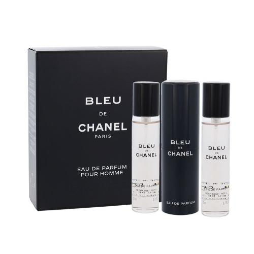 Chanel Bleu de Chanel parfémovaná voda Twist and Spray 3x20 ml pro muže
