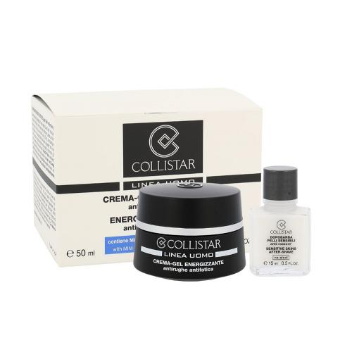 Collistar Men Energizing Cream-Gel dárková kazeta Men Energizing Cream-Gel 50 ml + After-Shave Balm Sensitive Skin 15 ml