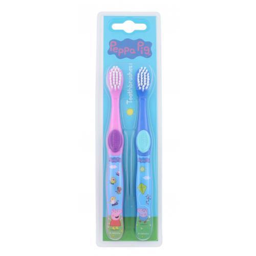 Peppa Pig Peppa dárková kazeta zubní kartáček 2 ks pro děti