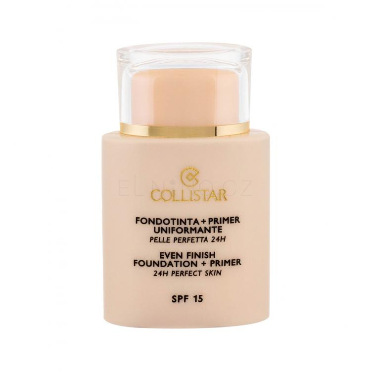 Collistar Evening Foundation + Primer SPF15 Make-up pro ženy 35 ml Odstín 1 Ivory