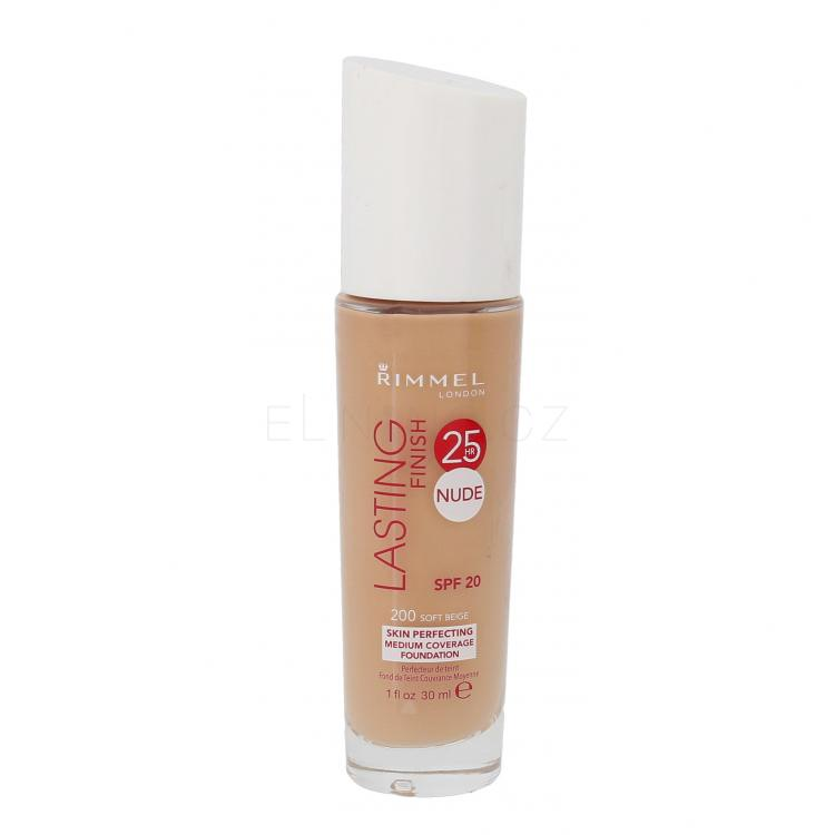 Rimmel London Lasting Finish 25hr Nude SPF20 Make-up pro ženy 30 ml Odstín 200 Soft Beige