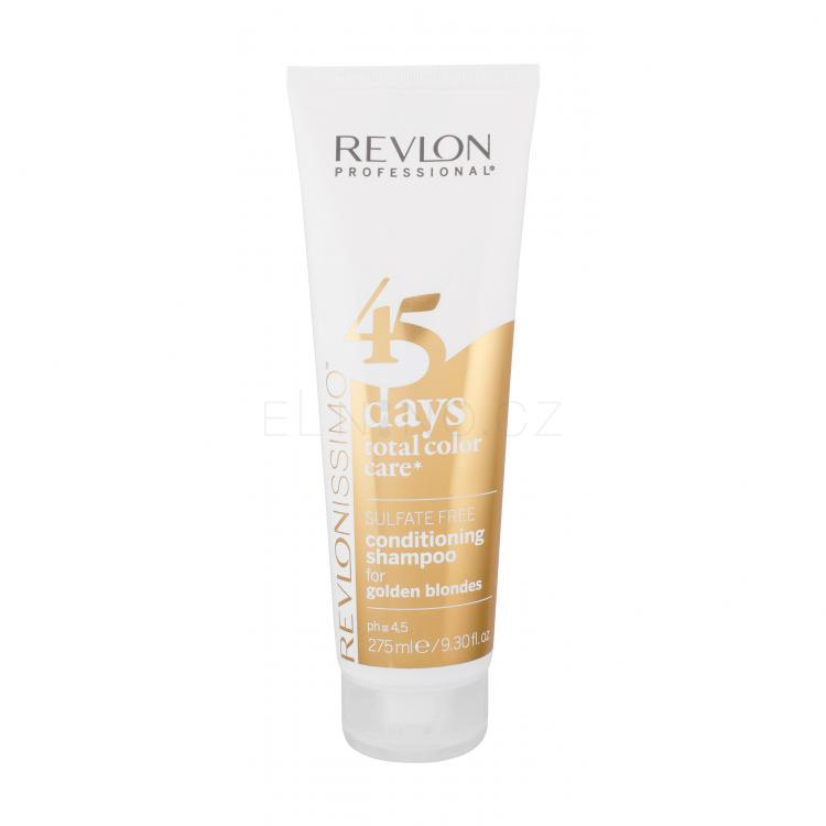 Revlon Professional Revlonissimo 45 Days 2in1 For Golden Blondes Šampon pro ženy 275 ml