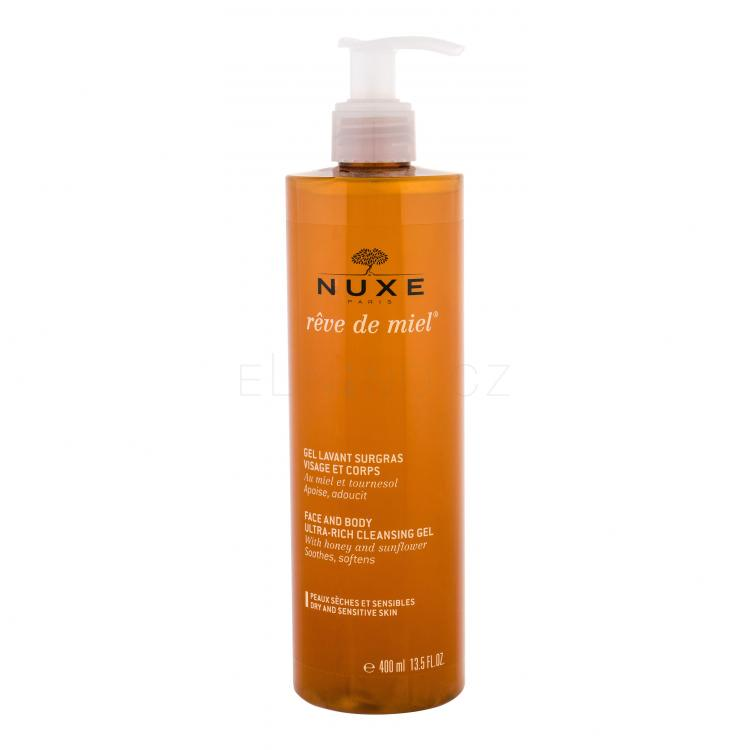 NUXE Rêve de Miel Face And Body Ultra-Rich Cleansing Gel Sprchové gely pro ženy
