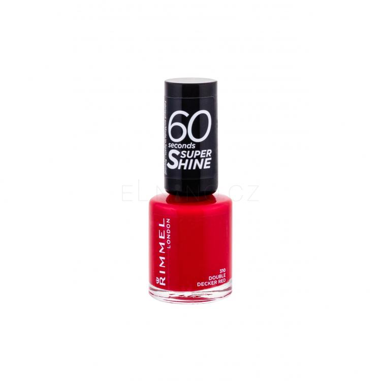 Rimmel London 60 Seconds Super Shine Lak na nehty pro ženy 8 ml Odstín 310 Double Decker Red